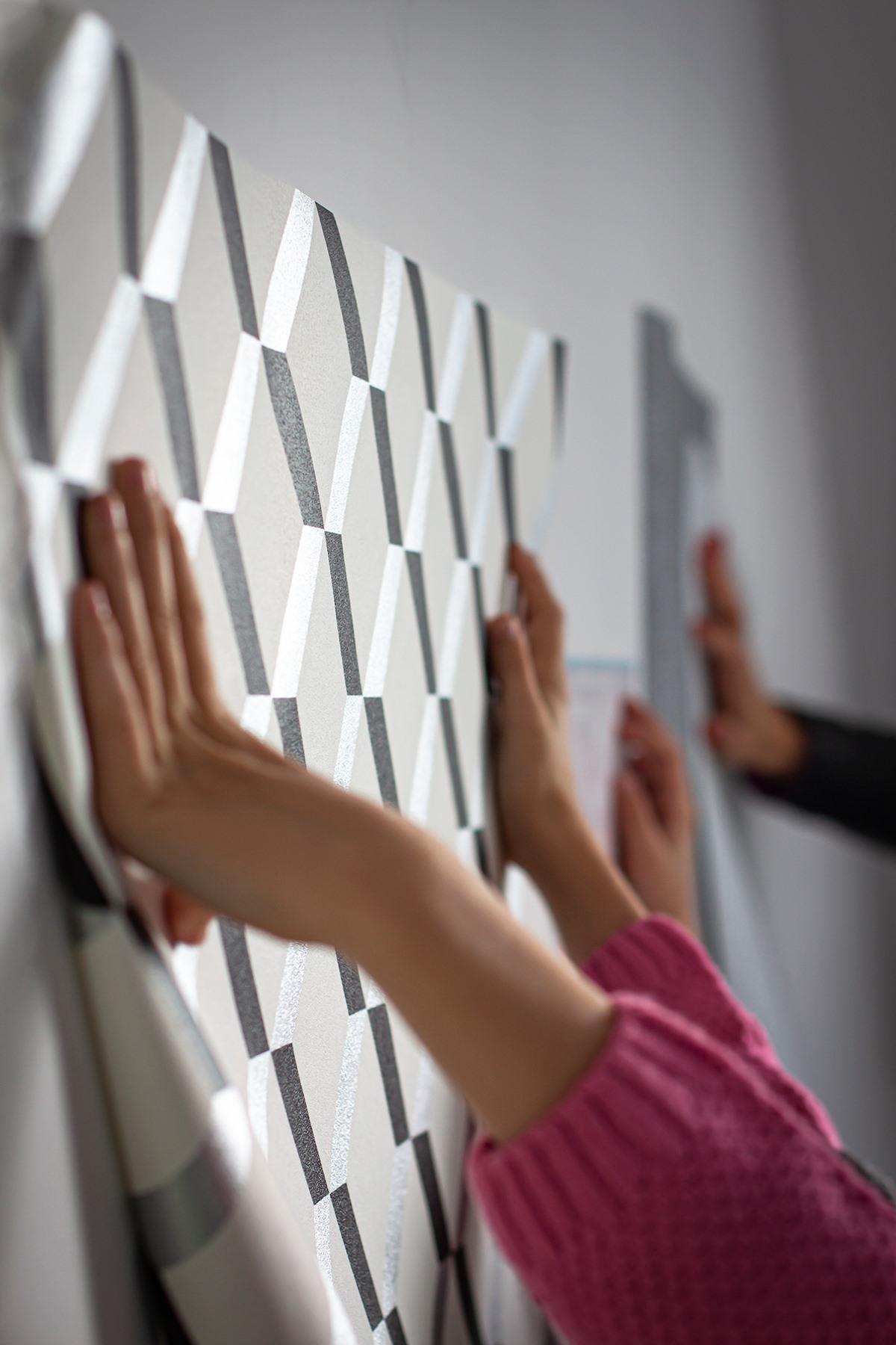 mieszkanie wzory na ścianach