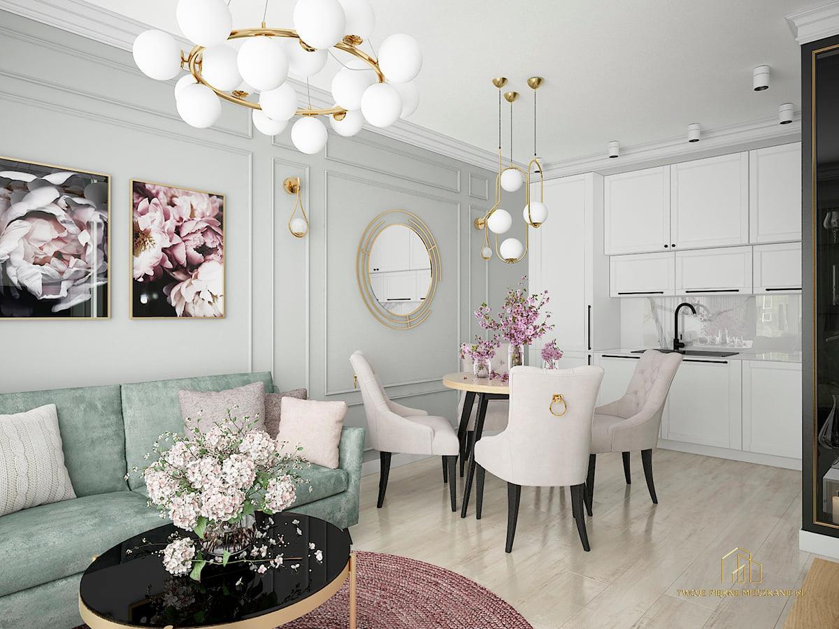 pastelowe kolory we wnętrzu twoje piękne mieszkanie