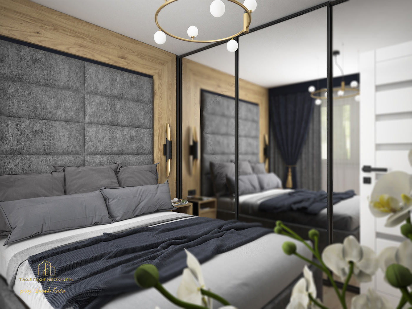 projekt sypialni zgora