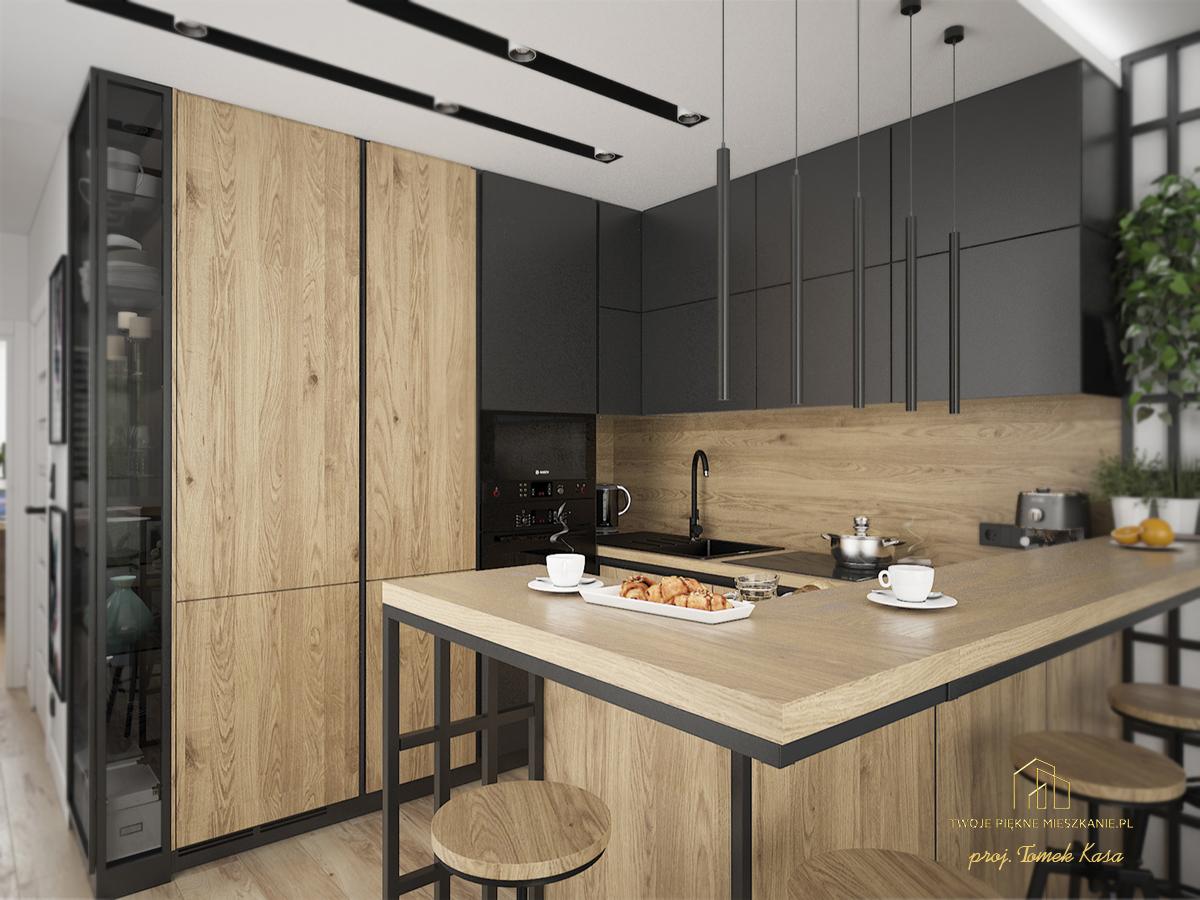 projekt kuchni z salonem zielona gora