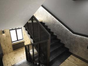 Projektan wnętrz Zielona Góra biurowiec korytarz