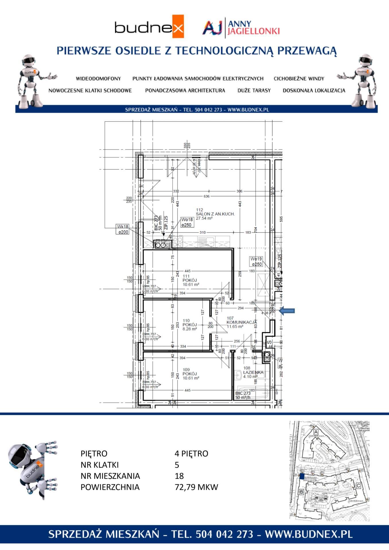 Mieszkanie Zielona Góra 4-pokoje, taras - ul. Anny Jagiellonki