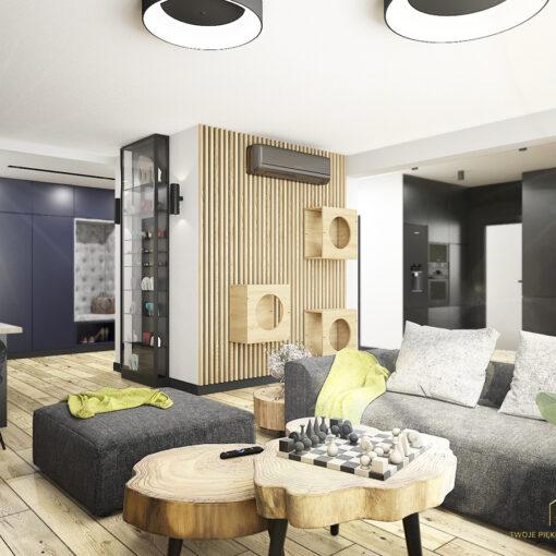 Projektant wnętrz architekt apartament Zielona Góra salon